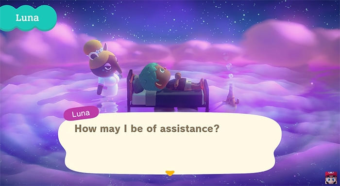 Animal Crossing Astral Projection - Luna in the Dream Suite