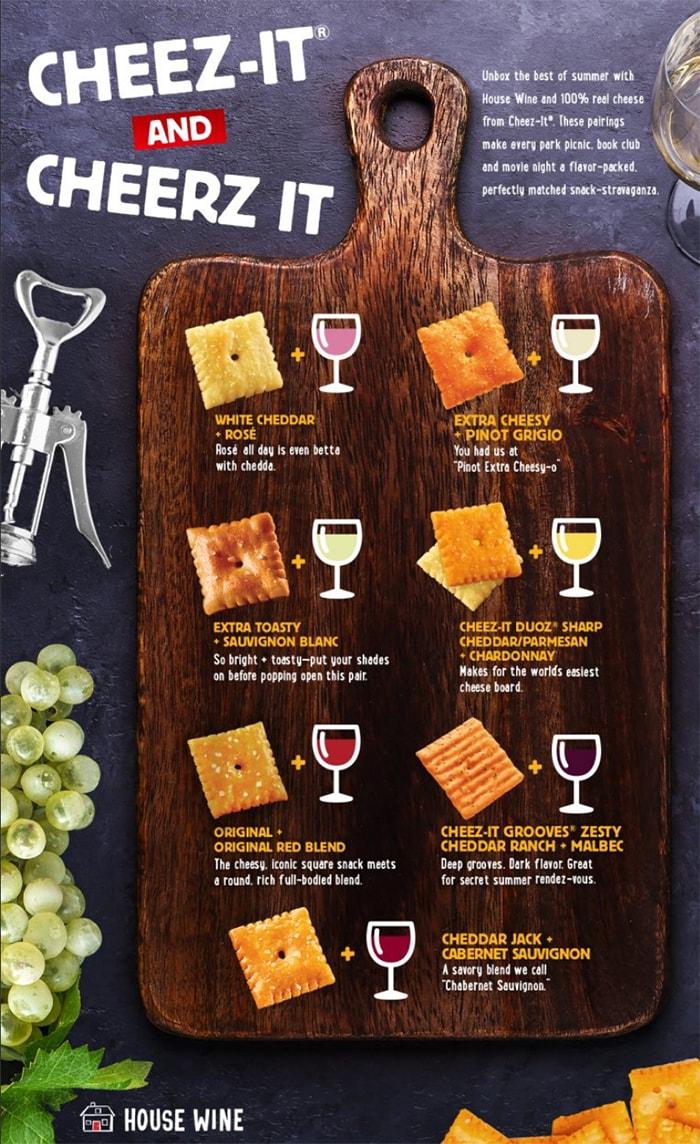 Cheez-Its and Wine - cheese pairing