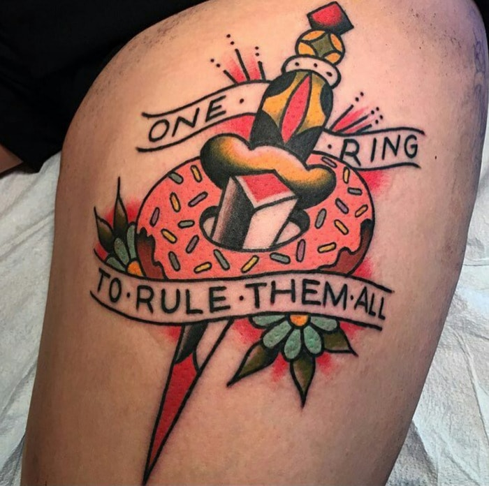 Donut Tattoos - One Ring to Rule Them All Dagger