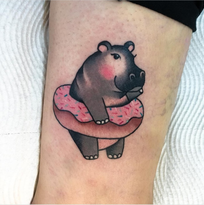 Donut Tattoos - Hippo