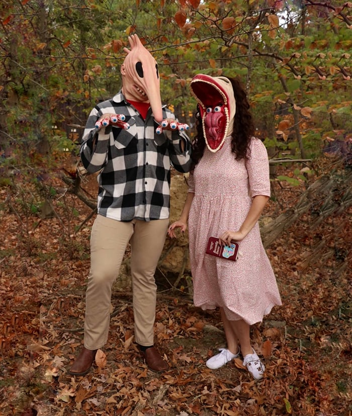 Halloween Costumes With Masks - Adam and Barbara from Beetlejuice
