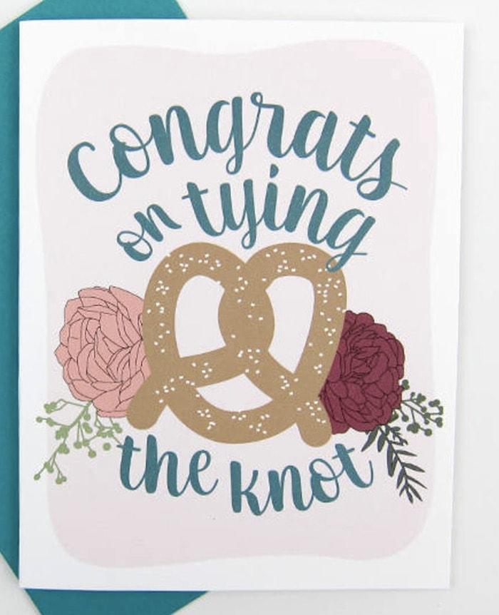 Pretzel Puns - Congrats on Tying the Knot