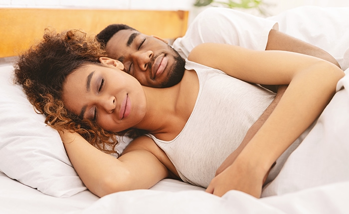 Spooning Sex Positions Tips - Couple in Bed