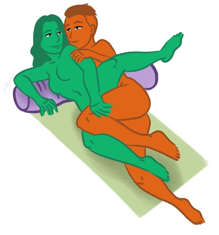 Spooning Sex Positions Tips - One Leg Up
