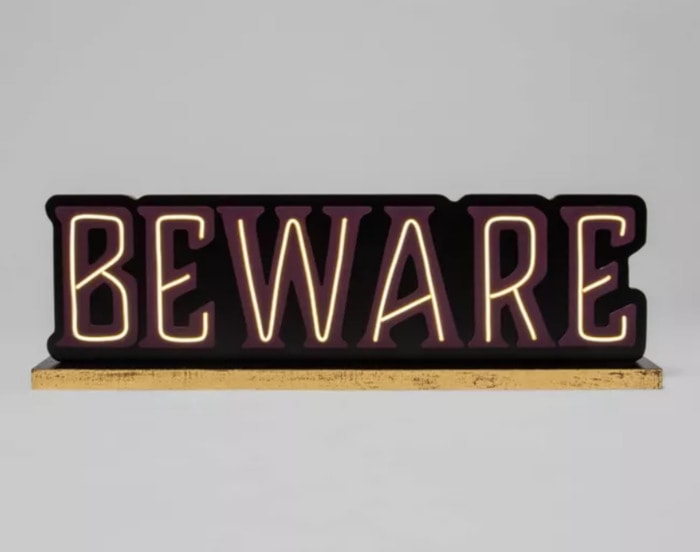 Target Hyde and Eek - Beware Sign