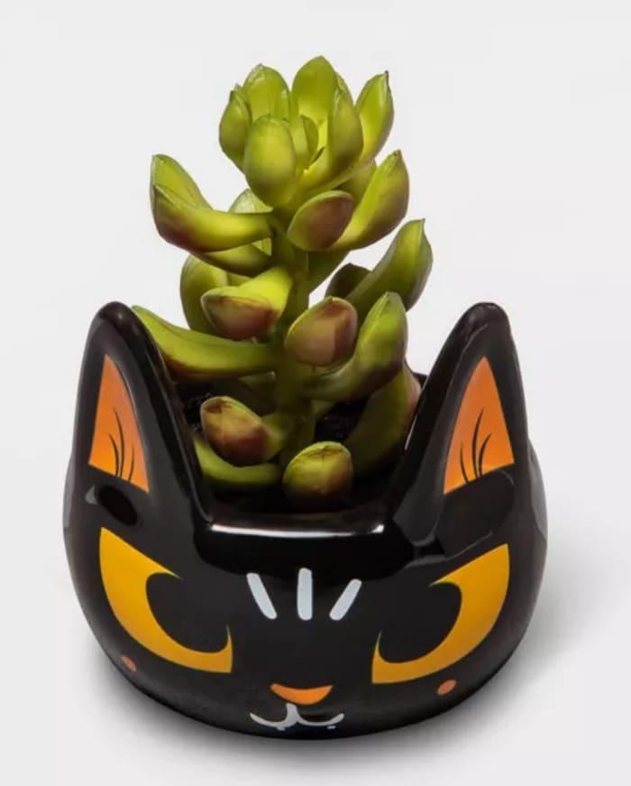 Target Hyde & EEK! Boutique 2020 - Cat Faux Succulent Planter
