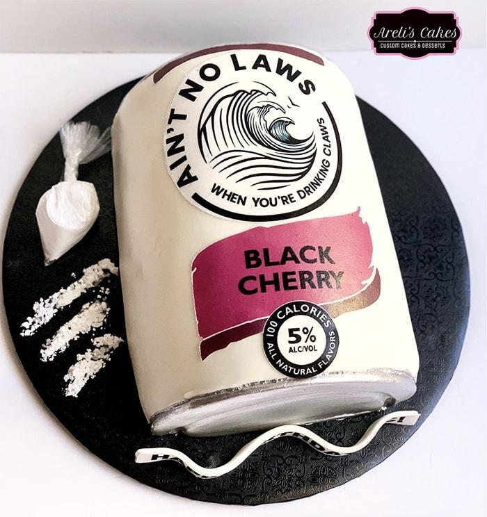 White Claw Cake - Black Cherry