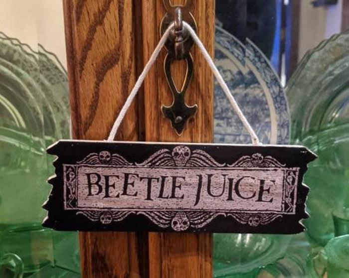 Beetlejuice Decor - Sign