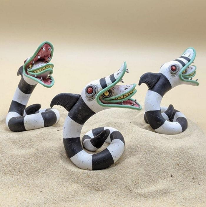 Beetlejuice Decor - Sandworm Statue
