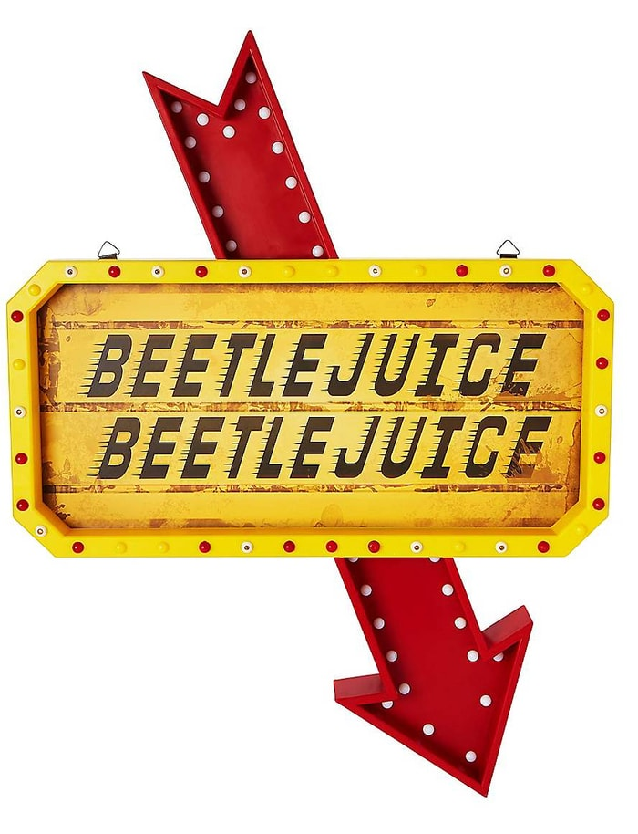 Beetlejuice Decor - Light-Up Marquee