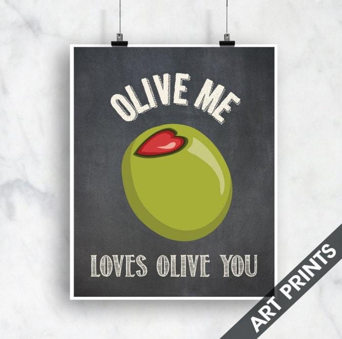 Food Puns - Olive Me