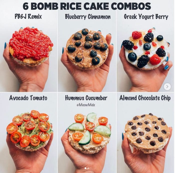 Healthy Food Charts - Rice Cakes