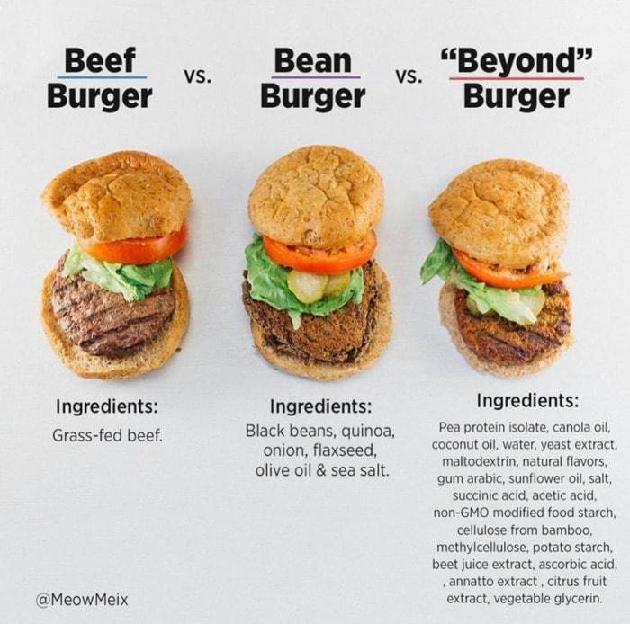 Healthy Food Charts - Burgers