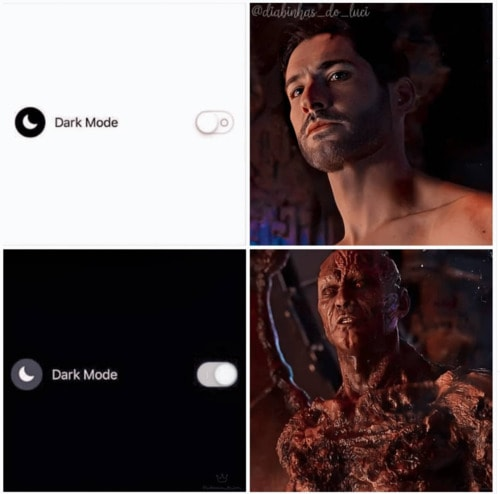 Lucifer Memes - Dark Mode