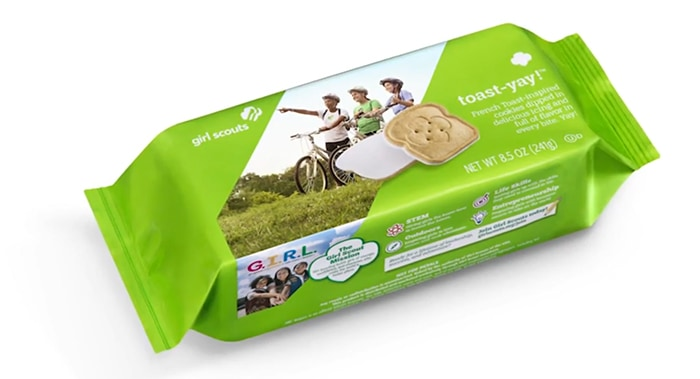 Toast-Yay! Girl Scout Cookies - Packaging
