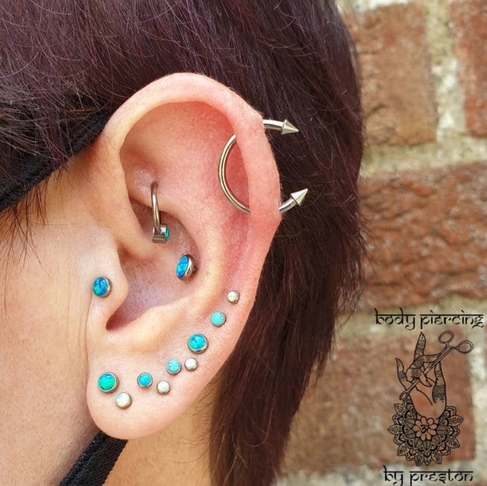 Types of Ear Piercings - multiple