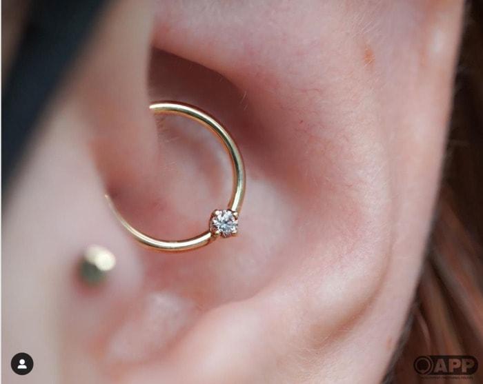 Types of Ear Piercings - daith