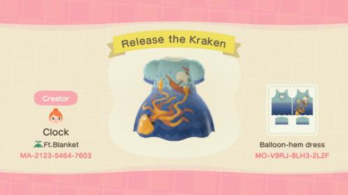 Halloween Design Codes Animal Crossing - Kraken Octopus Dress