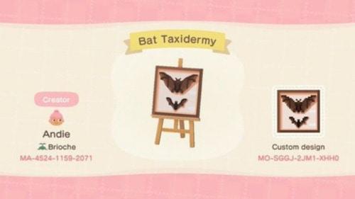 Halloween Design Codes Animal Crossing - Bat Taxidermy
