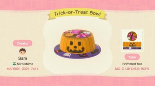 Halloween Design Codes Animal Crossing - Pumpkin Candy Bowl