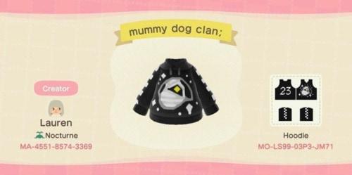 Halloween Design Codes Animal Crossing - Lucky Sweater