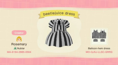 Halloween Costumes Animal Crossing - Beetlejuiceostumes Animal CrossingHalloween Costumes Animal Crossing - Beetlejuice - Skeleton Dress