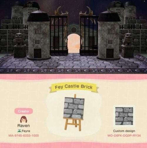 Halloween Ideas Animal Crossing - Castle Brick