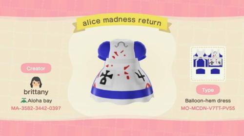 Halloween Ideas Animal Crossing - American McGee Alice Dress