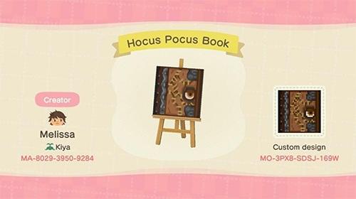 Animal Crossing Halloween - Hocus Pocus Book