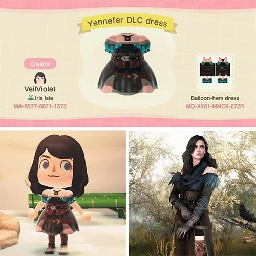 Animal Crossing Halloween - Yennifer Witcher Dress