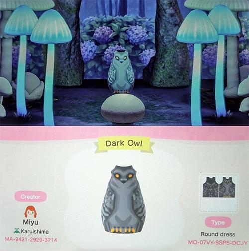 Animal Crossing Halloween - Dark Owl