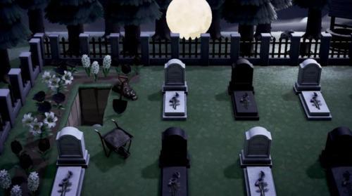 Halloween Design Codes Animal Crossing - Graveyard