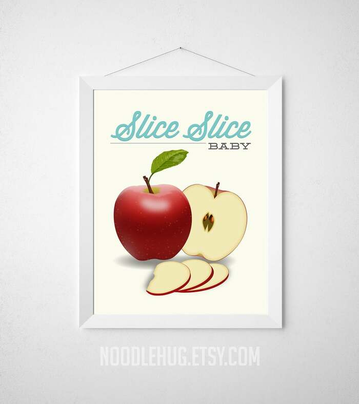 Apple Puns Slice Slice Baby