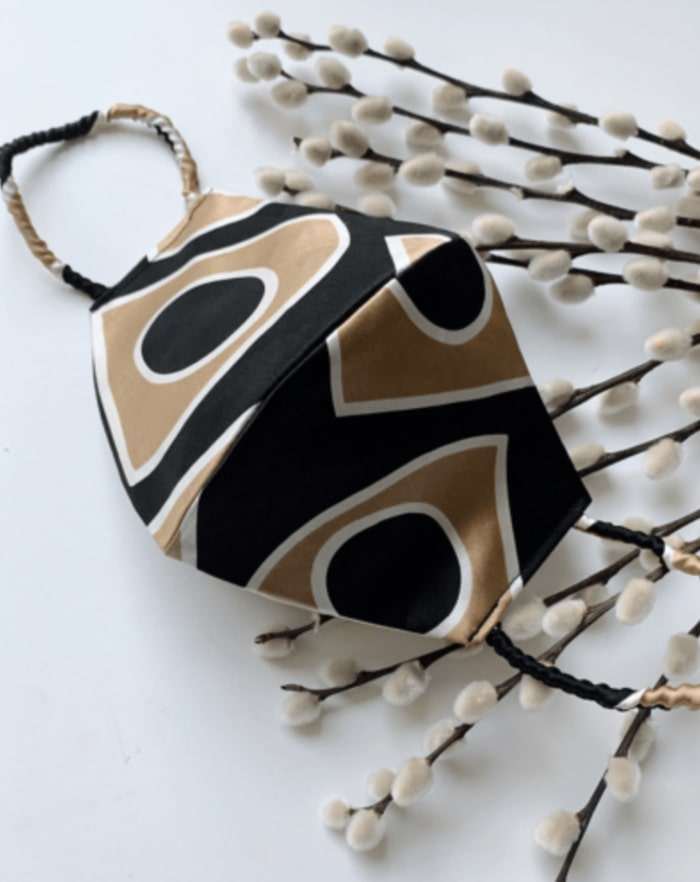 Ola Black and Brown Pattern Face Mask