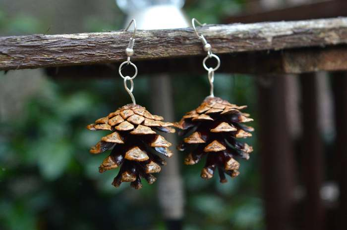 Cottagecore Fashion - Pinecone Earrings