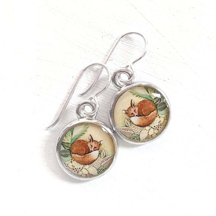 Cottagecore Fashion - Tiny Fox Earrings