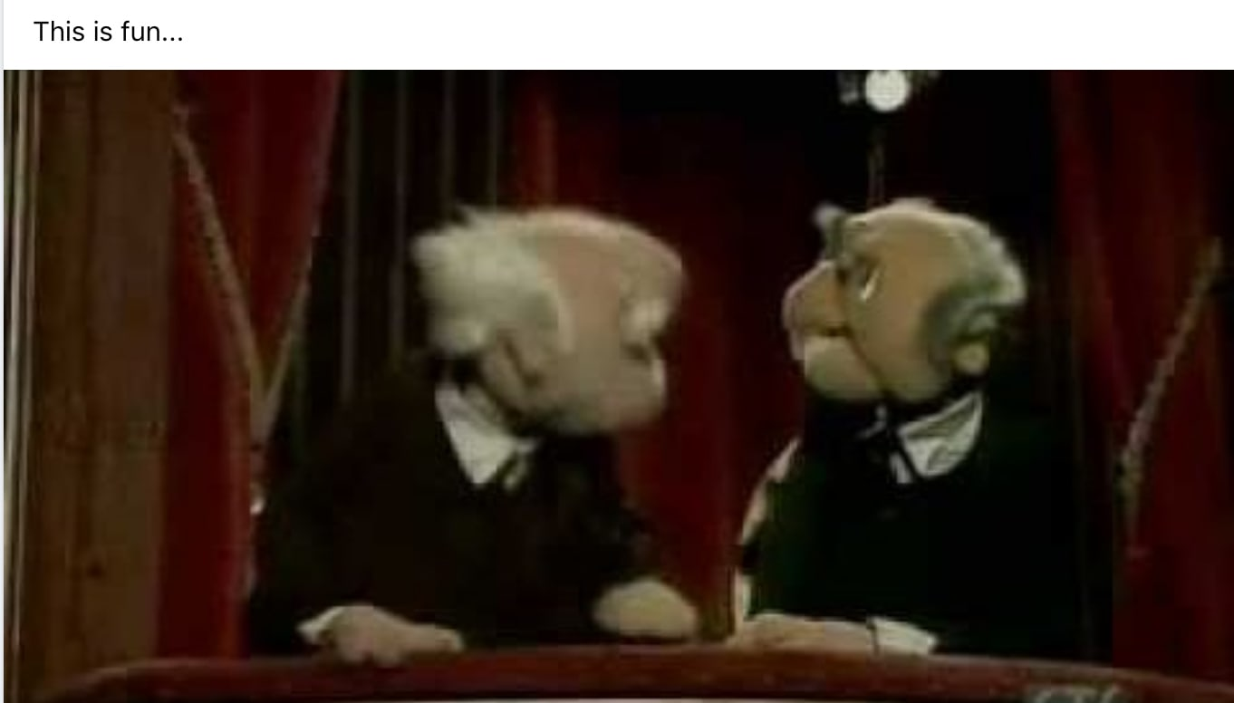 Debate Tweets - Statler and Waldorf Muppets