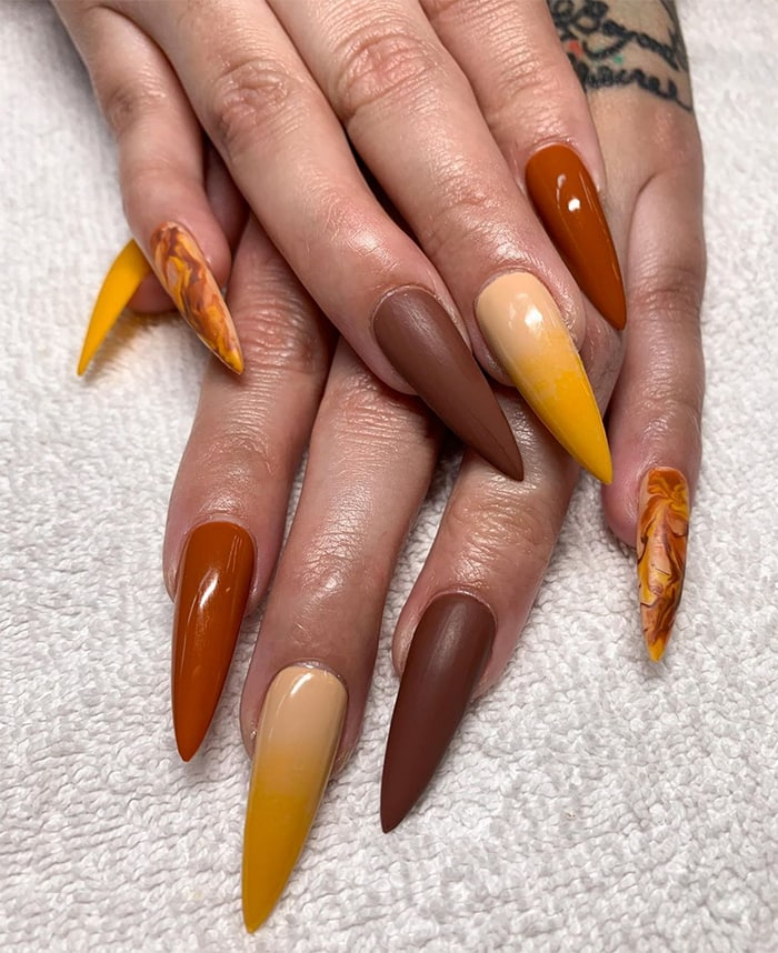 Fall Nails - Coffin