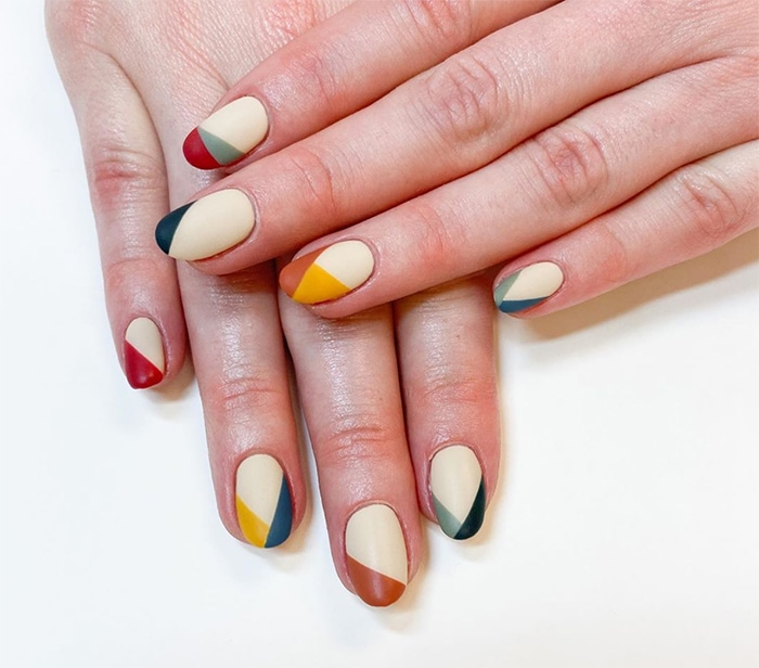 Fall Nails - Color Blocked