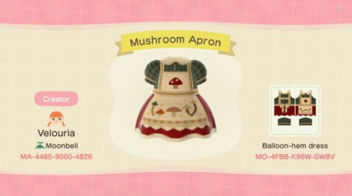 Fall Outfits Animal Crossing - Cottagecore mushroom apron