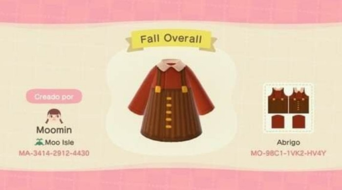 Fall Outfits Animal Crossing - Brown Cordoroy Skirt with Red Sweater