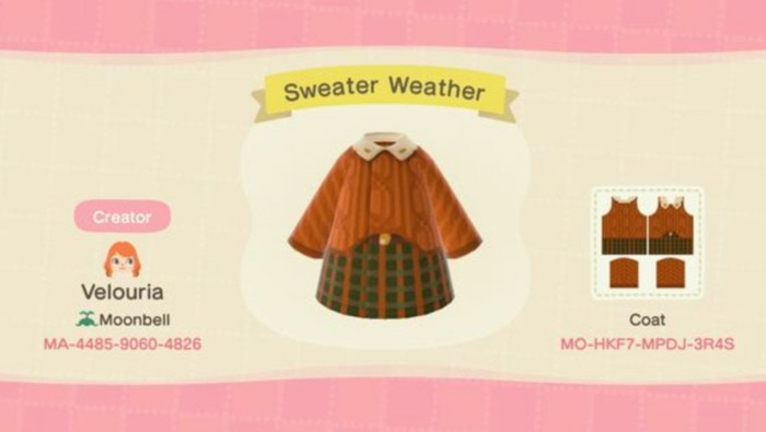 Fall Outfits Animal Crossing - Velma