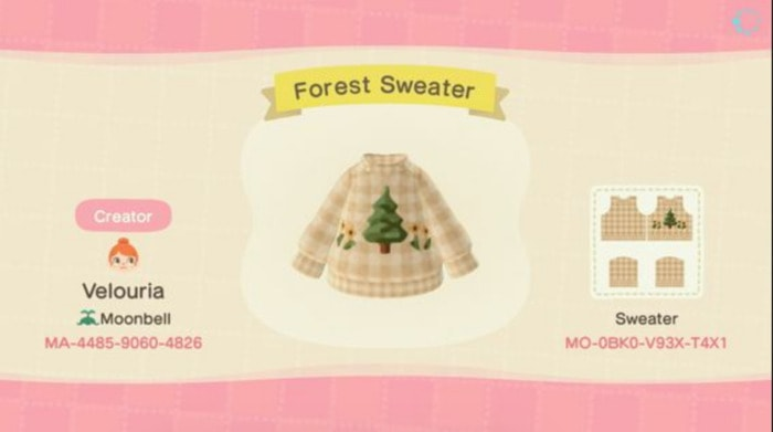 Fall Outfits Animal Crossing - Forest Sweater