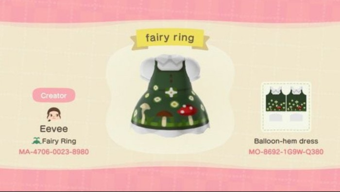 Fall Outfits Animal Crossing - Mushroom Fairy Dress