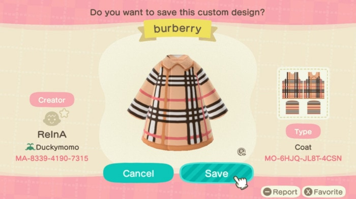 Fall Outfit Ideas Animal Crossing - Burberry Trench Coat