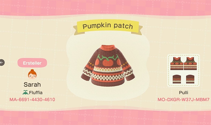 Fall Outfits Animal Crossing - Pumpkin Sweater
