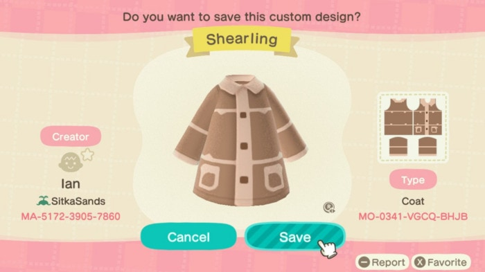 Fall Outfits Animal Crossing - Shearling Jacket