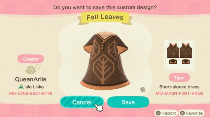 Fall Outfit Ideas Animal Crossing - Leaf Cape