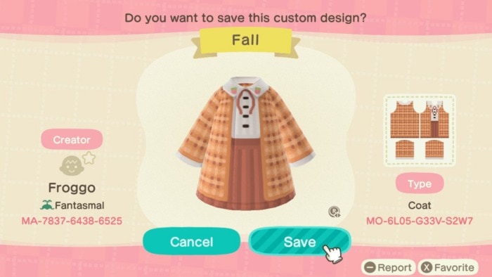 Fall Outfits Animal Crossing - Orange Uniform