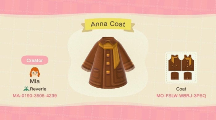 Fall Outfits Animal CrossiFall Outfits Animal Crossing - brown pea coat with gold buttonsng - brown pea coat